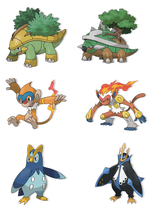 Les volutions des starters - Starter pokemon blanc ...