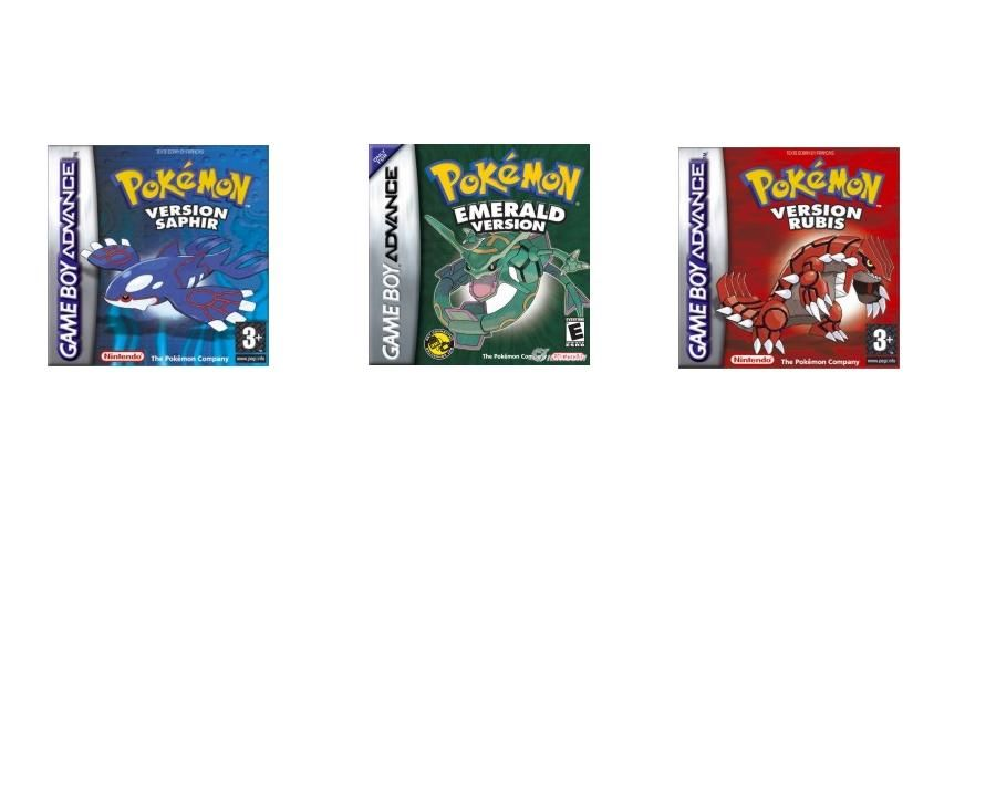 pokemon versions rubis,saphir et émeraude